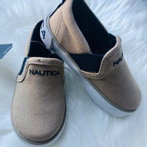 Nautica Toddler Canvas Slip on Sneakers